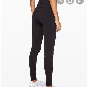 Lululemon black full length high waist luon pants